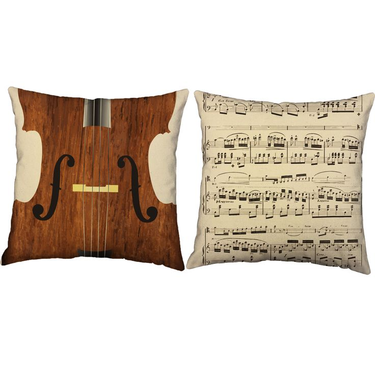 Love this music throw pillow! Perfect addition to any classical music themed room. These pillow covers make decorating fun and easy! #roomcraft