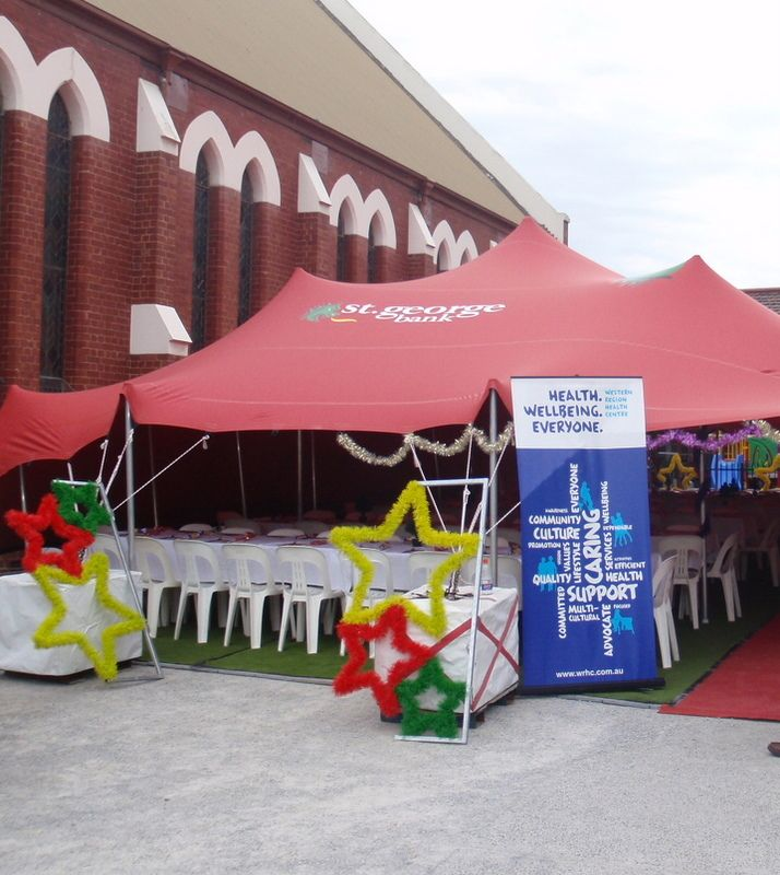 Branded Stretch tents.  #community #events #promotions