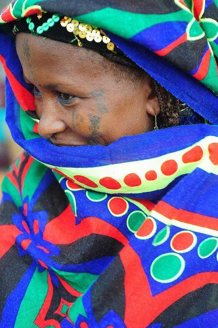 Africa | Portrait of a Peul (Fulani) woman.  Benin | © Luca Gargano.