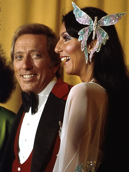 Andy Williams and Cher at Grammy's 1974