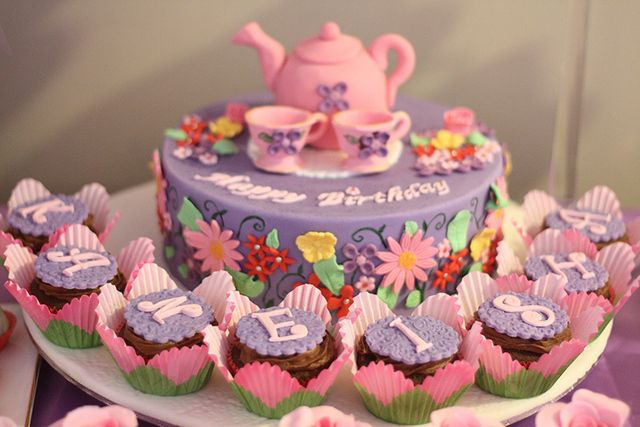 "Tea Party / Birthday ""Purple & Pink Tea Party for Kaneisha"" 