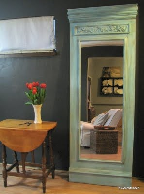 DIY Trumeau Floor Mirror Tutorial   Cheap Mirrors, Plywood and Crown ...