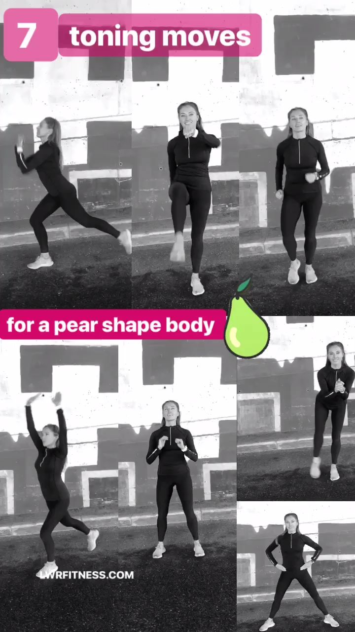 LOWER BODY WORKOUT IDEAL FOR A PEAR SHAPE – tone & slim your legs, thighs and booty with these moves
