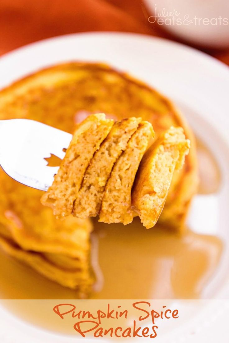 Pumpkin Spice Pancakes Recipe ~ Perfectly Light & Fluffy Homemade Pancakes with the Perfect Amount of Pumpkin & Spices! ~ http://www.julieseatsandtreats.com