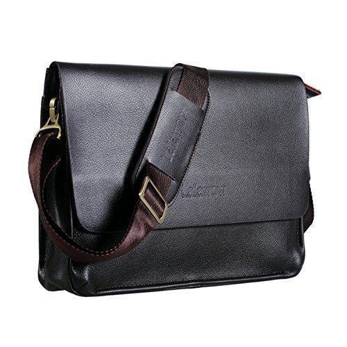 Oferta: 32.99€. Comprar Ofertas de Lalawow maletín de piel para hombres bolso de mensajero maletín para portátil (Marrón oscuro) barato. ¡Mira las ofertas!