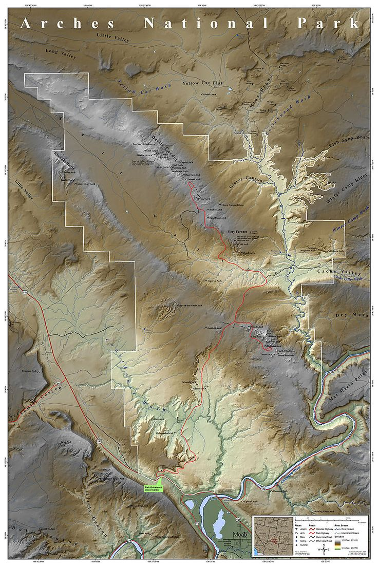 Arches National Park Map - Arches National Park - Wikipedia