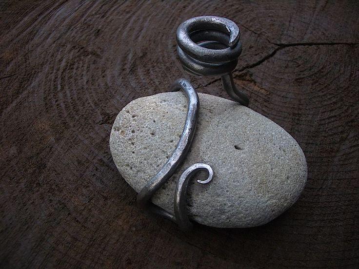 Island Blacksmith: Hand forged ironwork & stone candle holder