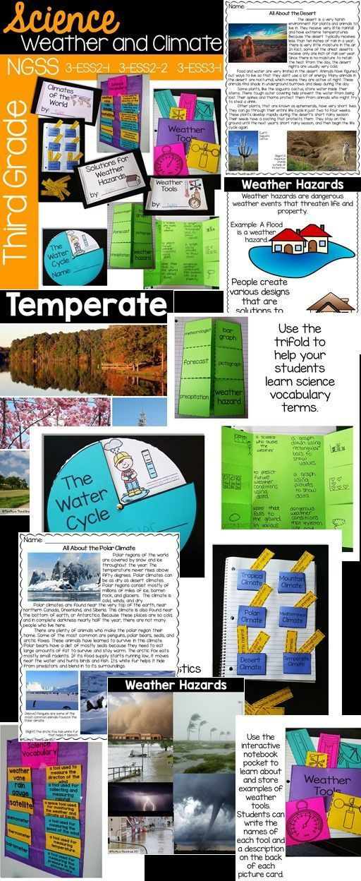 This 3rd grade weather and climate unit aligns to NGSS standards 3-ESS2-1, 3-ESS2-2, and 3-ESS3-1.
