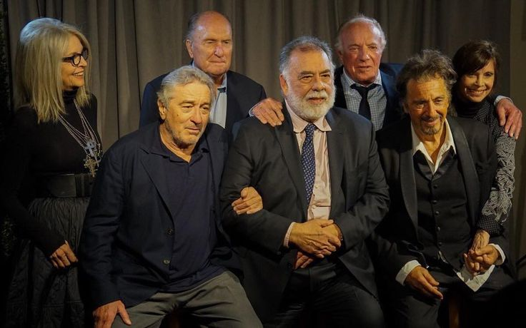Diane Keaton, James Caan, Francis Ford Coppola, Al Pacino, Talia Shire, Robert Duvall and Robert DeNiro take a bow onstage during the panel for 'The Godfather' 45th Anniversary Screening during 2017 Tribeca Film Festival closing night at Radio City Music Hall on April 29, 2017 in New York City.