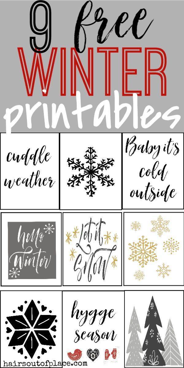 9 Free Winter Printables That Make Easy Cozy Season Wall Art | Free