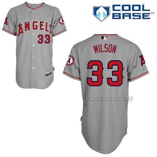 http://www.xjersey.com/angels-33-wilson-grey-cool-base-jerseys.html ANGELS 33 WILSON GREY COOL BASE JERSEYS Only $43.00 , Free Shipping!