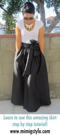 Maxi Skirt made w/silk dupioni from @Mimi Goodwin: Diy Maxi Skirts, Mimi G, Maxi Dresses Patterns, Black Clothing Style Diy, Sewing Skirts, Black Maxi Skirts, Diy Skirts, Maxi Skirts Patterns, Sewing Maxi Skirts