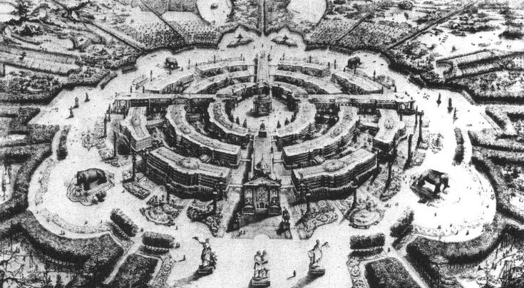 Plan by André of a community based on 'equality, liberty and unity' follows ideas of Charles Fourier's 'garantiste' city.