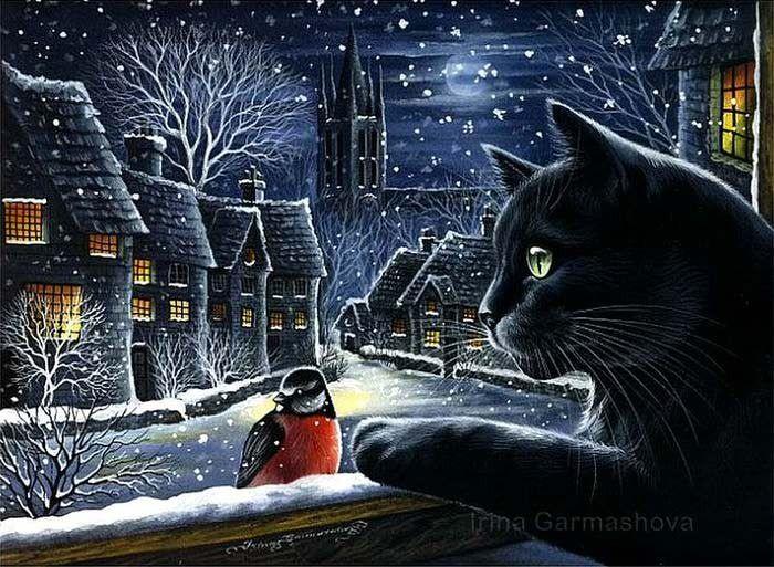 Картины Ирины Гармашовой . Part 2 кот, Ирина Гармашова, длиннопост, арт