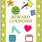 Your students will strive to earn these fun and cute Reward Coupons.  Use them to encourage good behavior, staying on task, or completing assignmen...