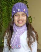 Cómo tejer un lindo conjunto de gorro y bufanda en punto elástico para niños. Un proyecto ideal para principiantes...!