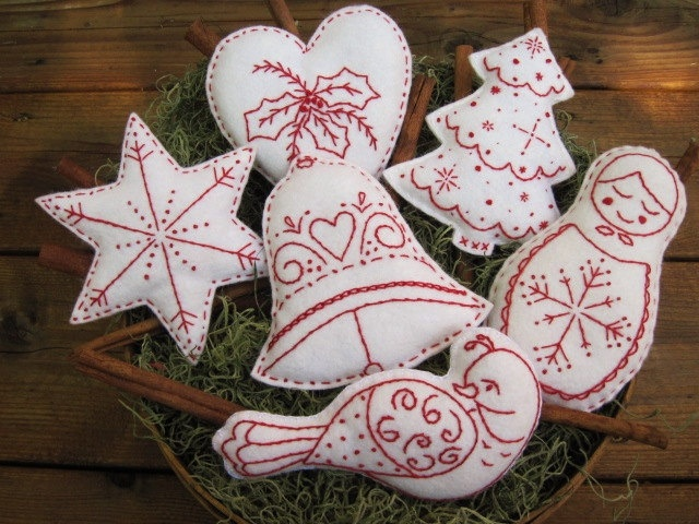 Christmas Bowl Fillers/ Ornaments (Scandinavian Style). $24.95, via Etsy.