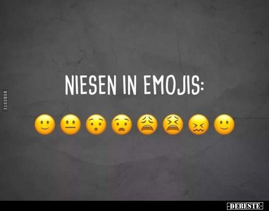 Niesen in Emojis…