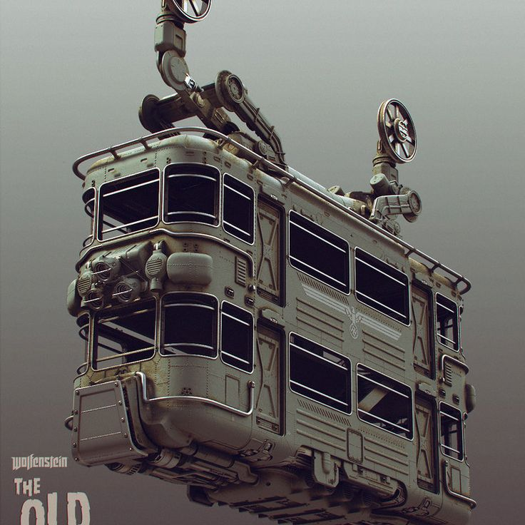 The cablecar from Wolfenstein: The Old Blood that I designed and built.