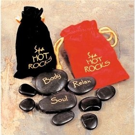 The application of both hot basalt #stones and cold marble stones is a sensual and relaxing experience. When hot and cold are alternated, the circulation is stimulated, thereby assisting the body in self-healing. The stones can be placed down your spine, along your arm or leg and even in between your toes--anywhere you feel the need.