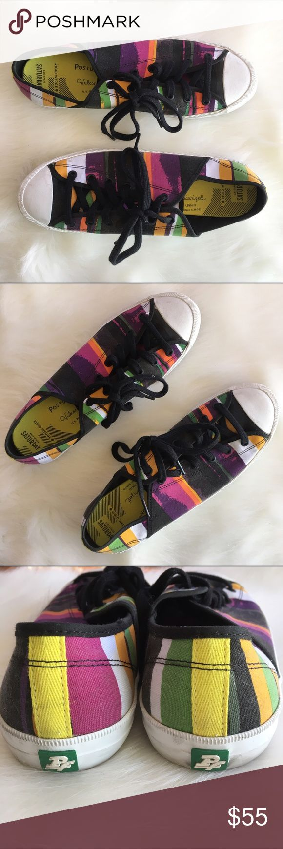 Kate Spade Saturday Colorful Sneakers Hardly worn Kate Spade Saturday Tennis shoes. Size 10. Still smells like new rubber kate spade Shoes Sneakers