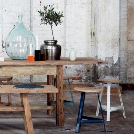 Houten Industrieel Landelijke Eethoek Keuken Pinterest Van