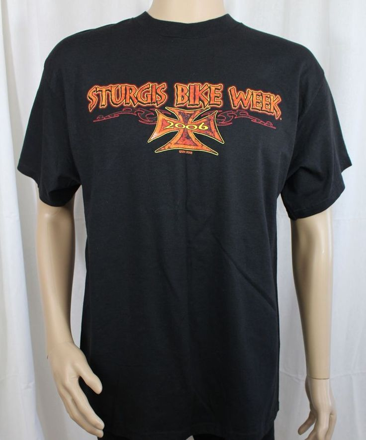 Sturgis Bike Week 2006 Black Large T-Shirt 66th Annual  #Delta #GraphicTee