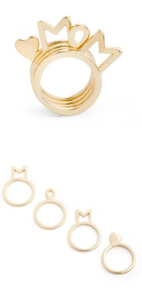 MOM stacking rings - mother's day present #birthday #anniversary #christmas #gift