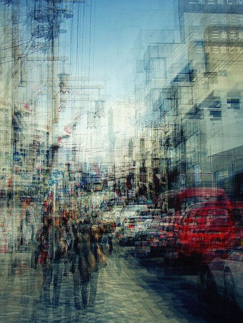 Multiple exposures of Japan by Stephanie Jung.