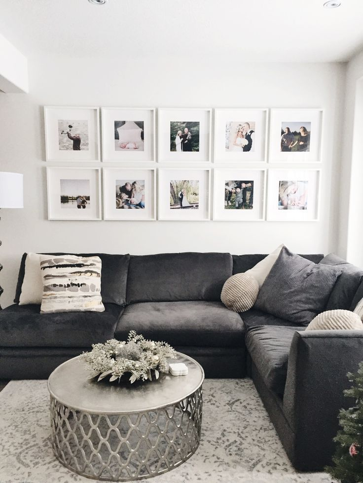 Good Totally Free Wall Art Gallery Layout Rather Than Having A Gazillion Holes In The Walls From In 2020 Gallery Wall Living Room Home Living Room Trendy Living Rooms