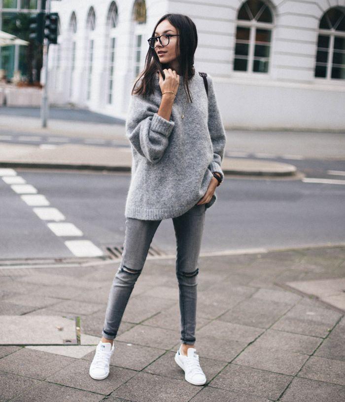 fb39c6b88f 14 Outfits con jeans grises para verte sencilla