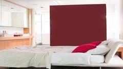 Un ambiente en suite abierto es una excelente manera de crear una conexión entre el baño y el dormitorio - y el color juega un papel primordial en la creación de este estilo.