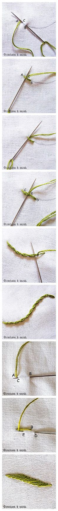 Embroidery stitches.