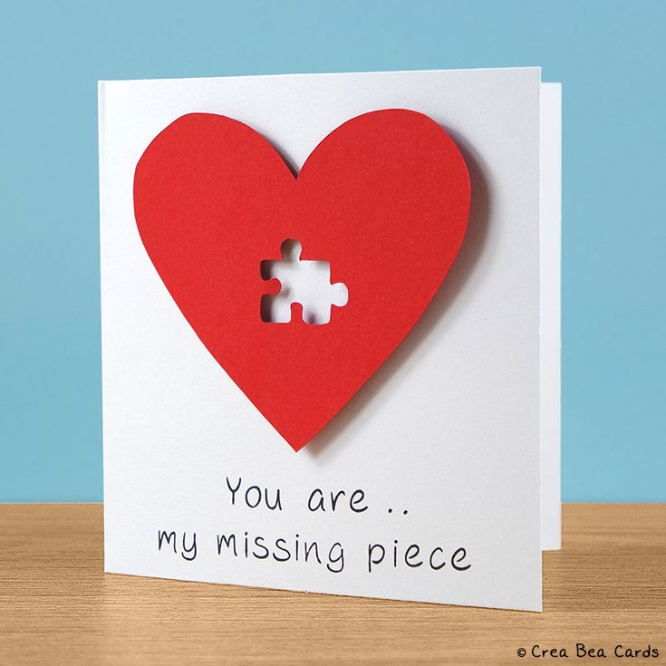With this romantic card you can show that someone has a very special place inside your heart.