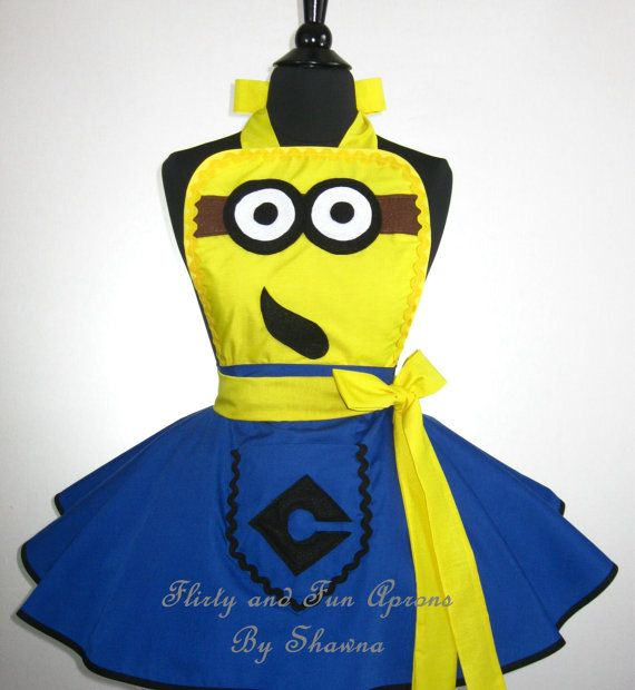 Adult Yellow MINION Costume Apron by FlirtyandFunAprons on Etsy, $60.00