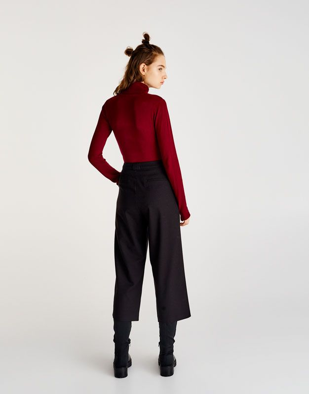 Polo neck sweater - Knit - Clothing - Woman - PULL&BEAR United Kingdom