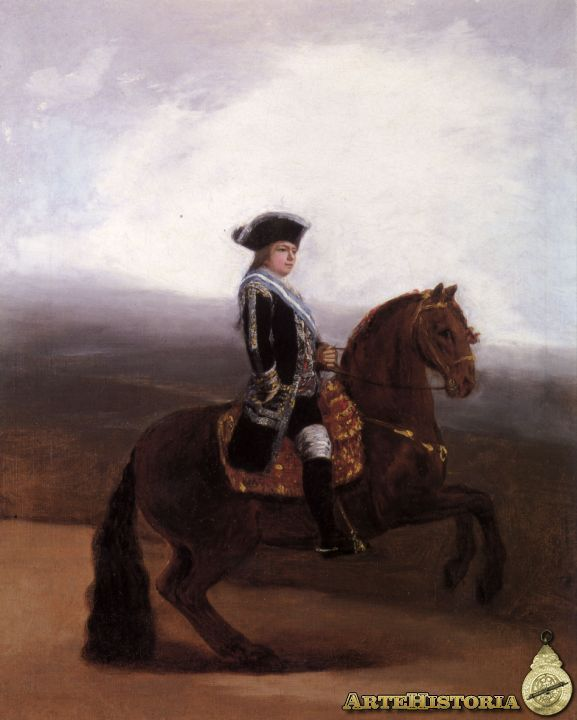 José de Goya y Lucientes EQUESTRIAN PORTRAIT OF DON MANUEL GODOY, DUKE OF ALCUDIA  2,500,000 — 3,500,000 GBP LOT SOLD. 2,617,250 GBP (Hammer Price with Buyer's Premium) DETAILS & CATALOGUING  Francisco José de Goya y Lucientes FUENDETODOS 1746 - 1828 BORDEAUX EQUESTRIAN PORTRAIT OF DON MANUEL GODOY, DUKE OF ALCUDIA oil on canvas 55.2 by 44.5 cm.; 21 3/4 by 17 1/2 in.