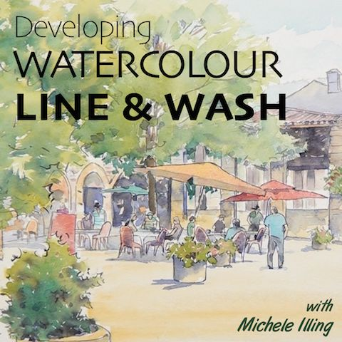 Welcome to Developing Line and Watercolour Wash with Michele Illing! In this course you'll learn how to create eye-catching line and wash artwork - from simple florals right through to intricate townscapes.