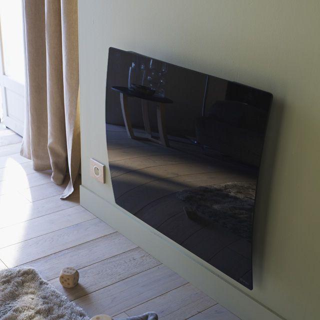 radiateur lectrique chaleur douce blyss r v lation noir. Black Bedroom Furniture Sets. Home Design Ideas