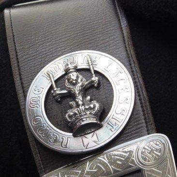 Crossbelt Badge. King - Queens Piper - Balmoral Highlanders Uniform