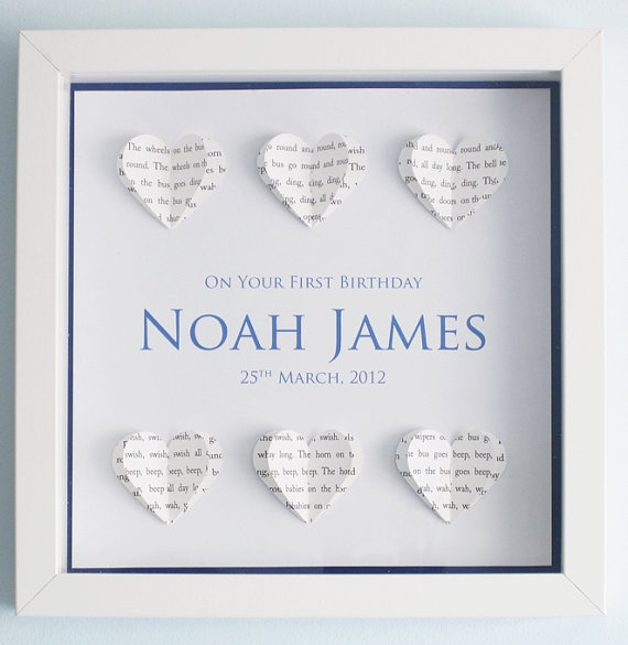 Personalised Text Hearts Picture Box Frame by PaperHeartCreation, £19.50