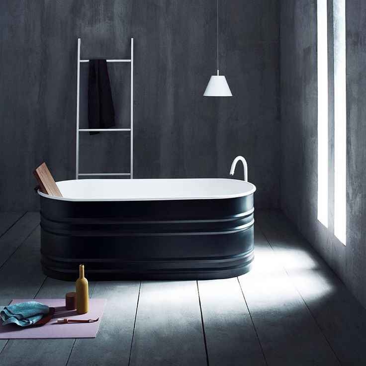 Agape, Vieques bathtub designed by Patricia Urquiola, Fez tap and Stairs extra by Benedini Associati Design Consultant. #agapedesign - Learn more on agapedesign.it