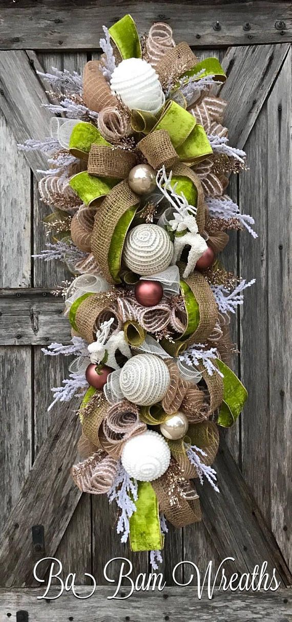 Rustic Christmas. Christmas Wreath, Christmas Swag, Christmas Door Hanging, Holiday Wreath, Holiday Swag, Winter Wreath, Winter Swag Im Dreaming Of A Rustic Christmas.....fine details, lush decor.....this swag is so Stunning ~ youll be saying I want more. Now make your
