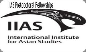 IIAS Postdoctoral Fellowships for International Researchers in Netherlands, and applications are submitted till April 2015. International Institute for Asian Studies is offering postdoctoral fellowships for researchers from around the world who would like to apply for a position as 'affiliated fellow' at IIAS.