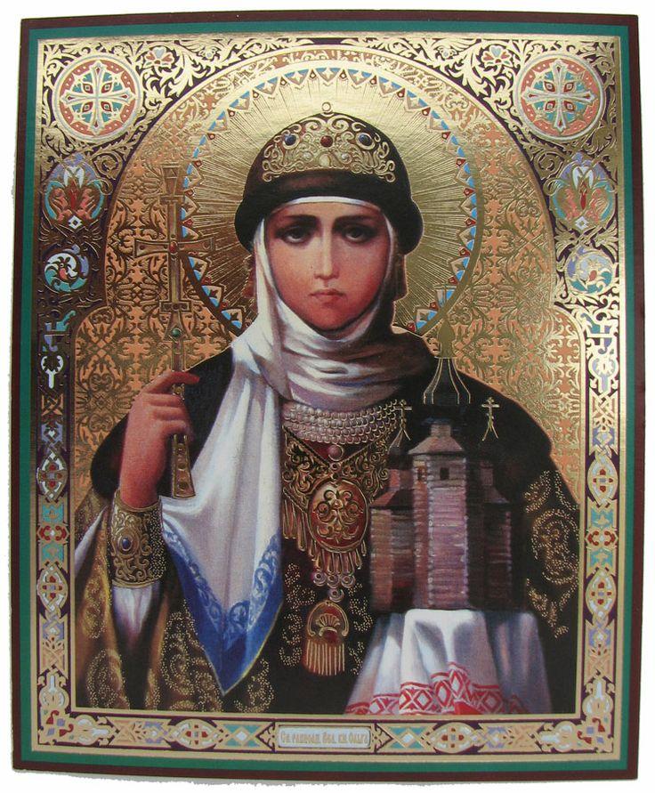saint olga | St Olga, Orthodox Icon (Cardboard, 10x12cm or 4x5in)