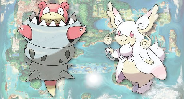 Mega Slowbro and Mega Audino spotted on Korean Pokemon website.