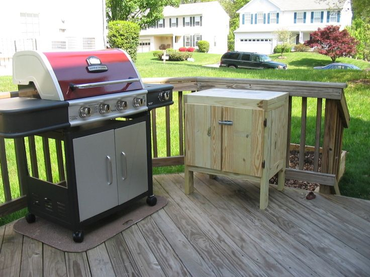 Side Cabinet For Deck Grill