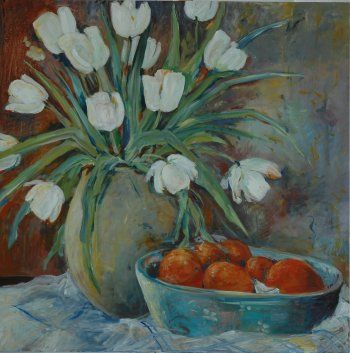 Painted in 2011 - 80 x80 cm SOLD  by Mai-Britt Schultz