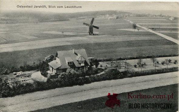 Pocztówka z przed 1930 roku. Wydawnictwo: Albert Mewes Rugenwalde