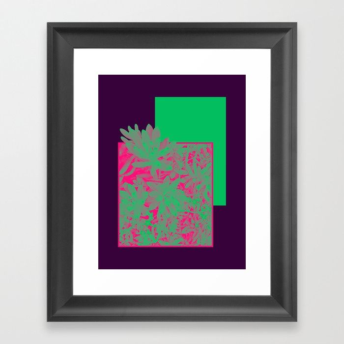 Buy Neon Greenery #society6 #succulent Framed Art Print by designdn. Worldwide shipping available at Society6.com. Just one of millions of high quality products available.